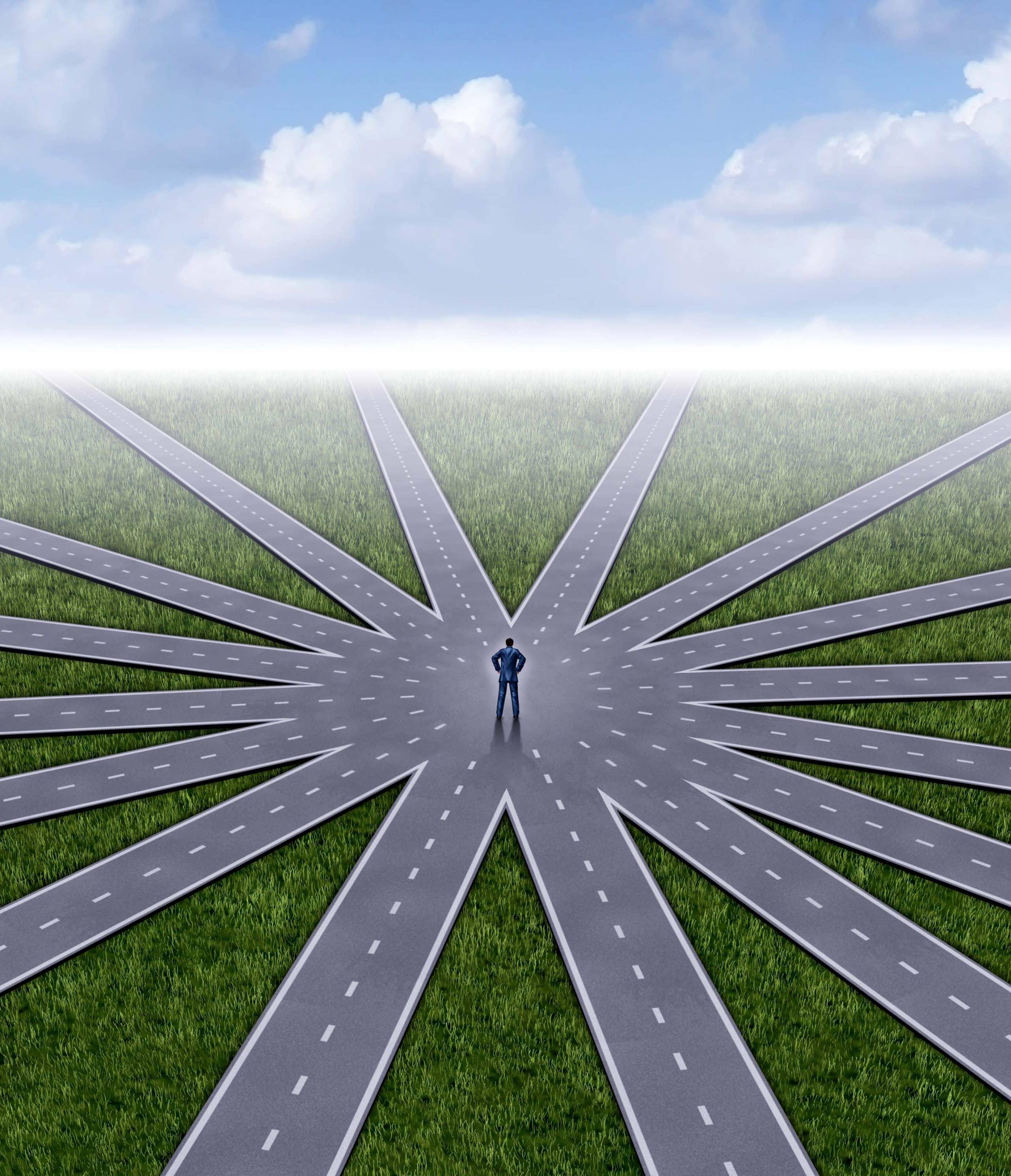 cambiare strada. cambiare percorso. fare scelte nuove. cercare nuove strade
