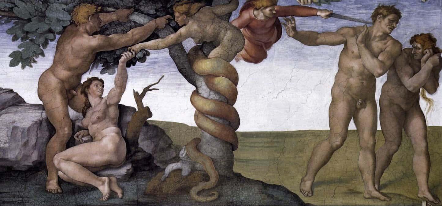 cappella-sistina-michelangelo-peccato-orginale-cacciata-eden - sesso-tabu