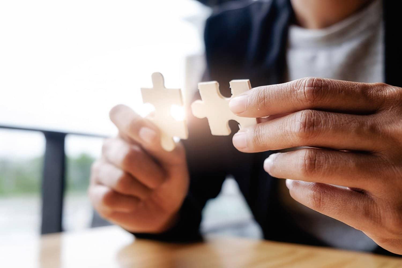 collegamenti, unione, puzzle